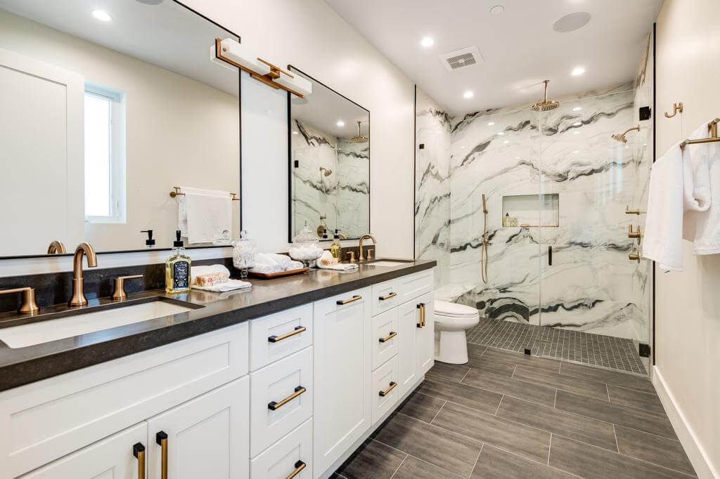 Custom Bathroom Cabinets In Los Angeles Ca Aga Construction Inc